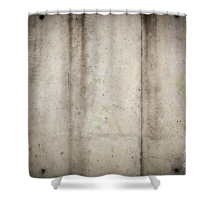 Abstract Shower Curtain featuring the photograph Concrete Wall by Tim Hester