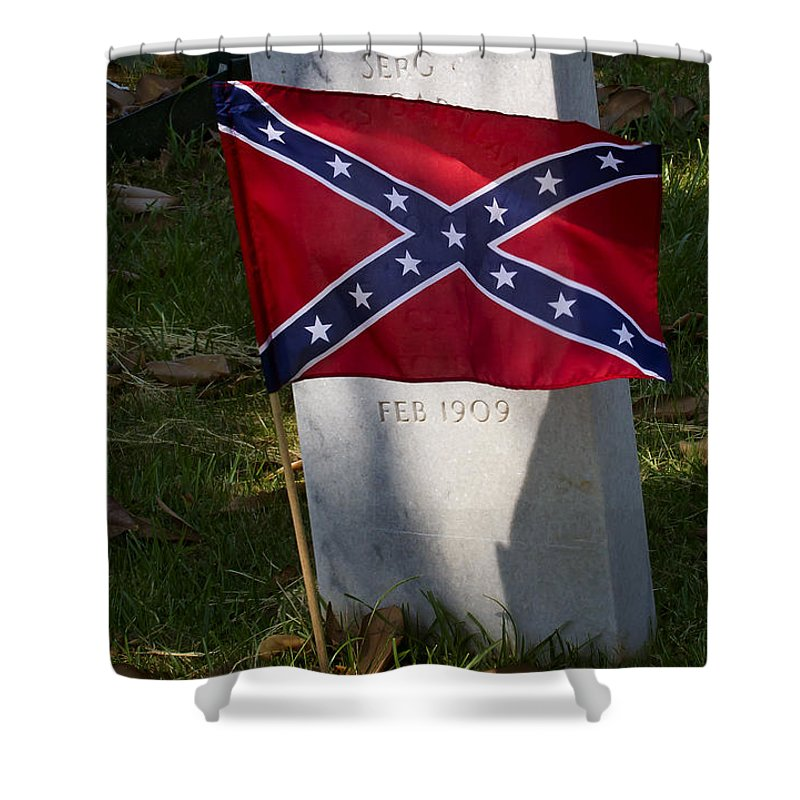 Grave Shower Curtain featuring the photograph Confederate Grave  #2823 by J L Woody Wooden