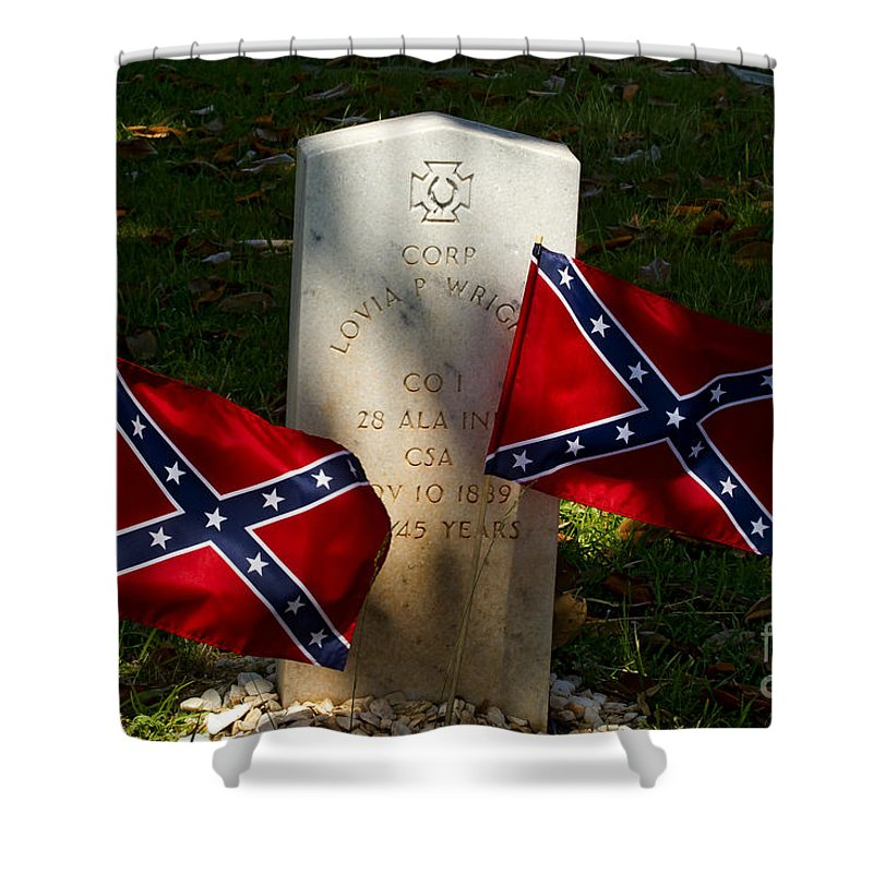 Grave Shower Curtain featuring the photograph Confederate Grave  #2831 by J L Woody Wooden