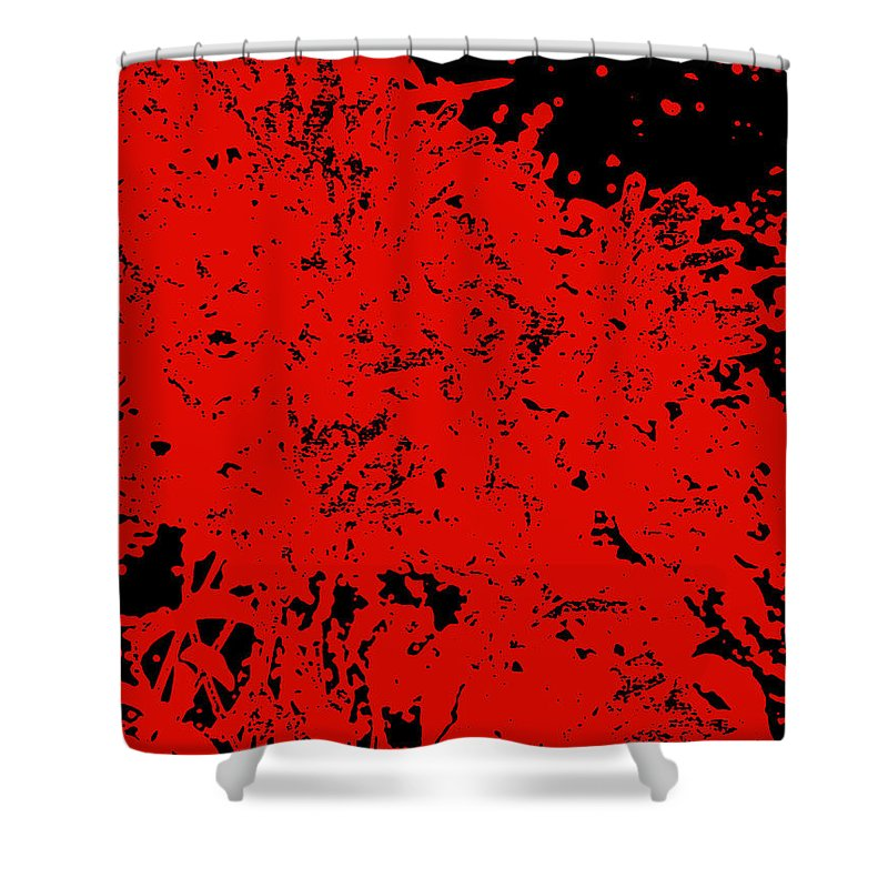 Chaos Shower Curtain featuring the digital art Chaos by James Temple