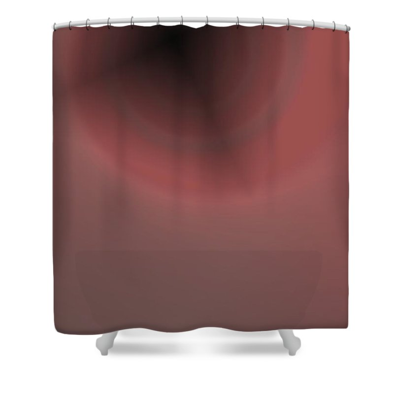 Abstract Shower Curtain featuring the digital art Constant Target by Pharris Art