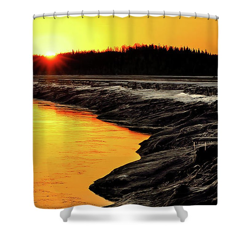 Alaska Shower Curtain featuring the photograph Contrasts In Nature by Ron Day