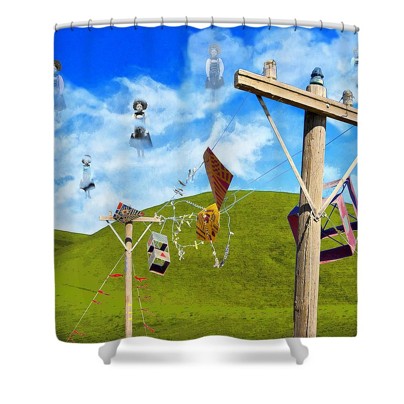 Convocation Shower Curtain featuring the mixed media Convocation by Dominic Piperata