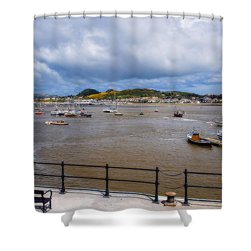 Beach Shower Curtain featuring the photograph Conway Harbour by Mark Llewellyn