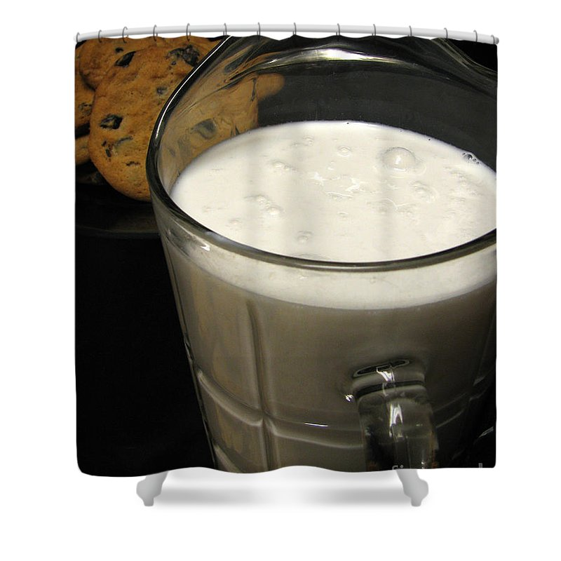 Cookies And Milk Shower Curtain featuring the photograph Cookies And Milk by Peter Piatt