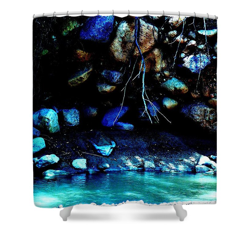 Coal Creek Shower Curtain featuring the photograph Coal Creek Dixie National Forest Utah by Deborah Moen