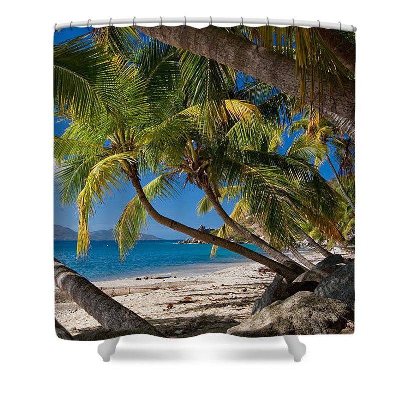 3scape Shower Curtain featuring the photograph Cooper Island by Adam Romanowicz
