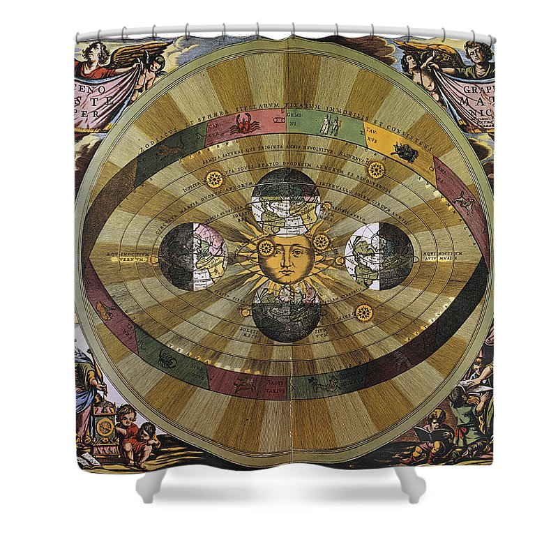 17th Century Shower Curtain featuring the photograph Copernican Universe by Granger