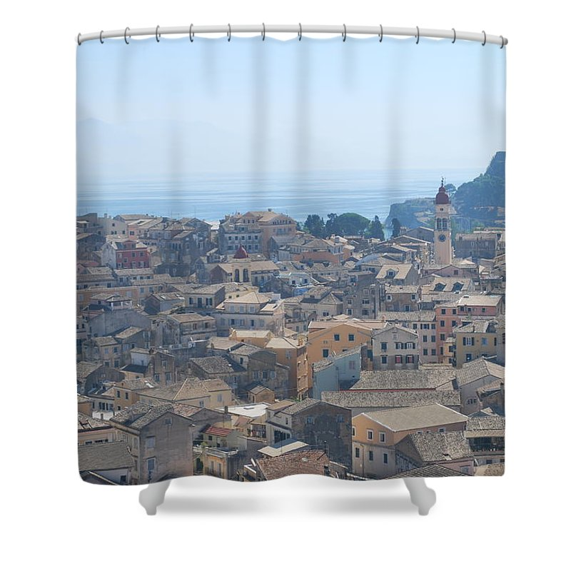 Corfu Shower Curtain featuring the photograph Corfu by George Katechis