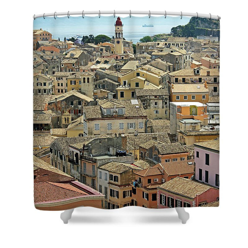 Greek Culture Shower Curtain featuring the photograph Corfu, Greece by David Gould
