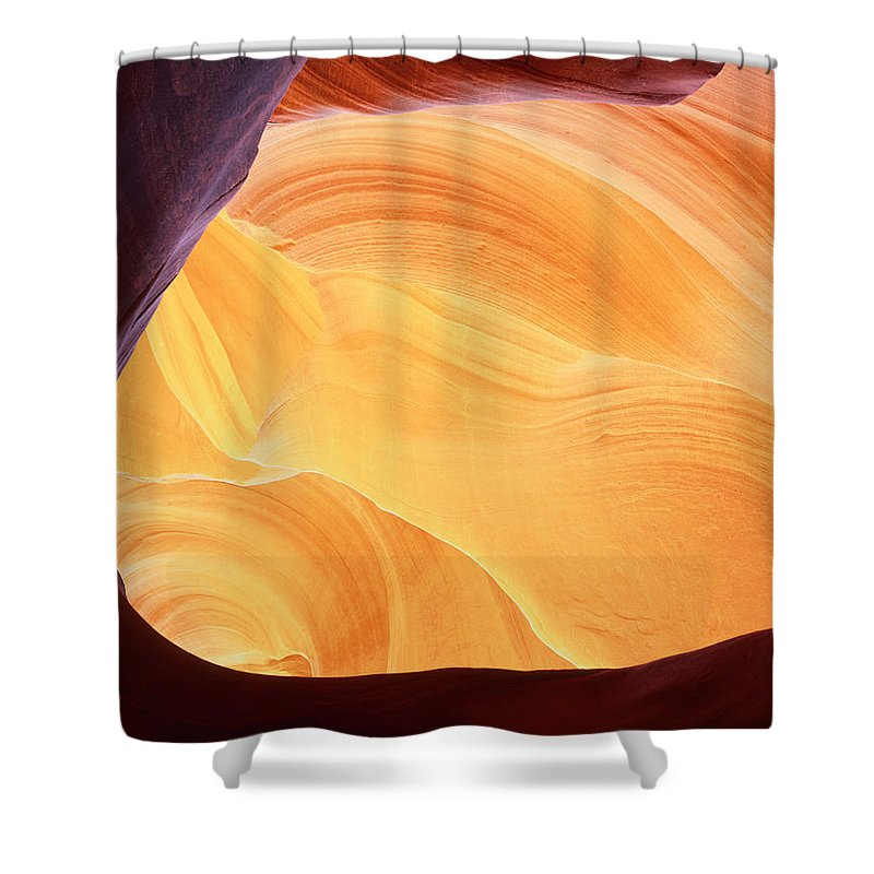Arizona Shower Curtain featuring the photograph Corner Flame by Tom Daniel
