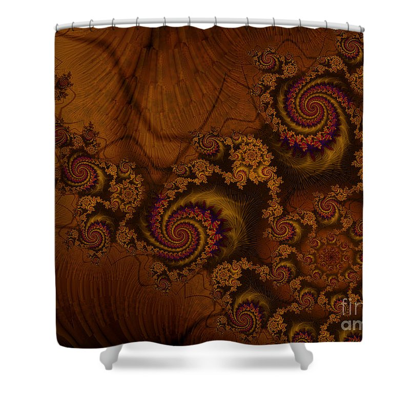 Corners Of The Mind Shower Curtain featuring the digital art Corners Of The Mind by Kimberly Hansen