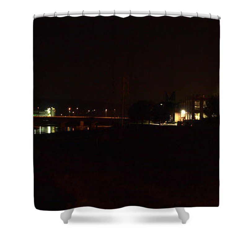 Joshua House Photography Shower Curtain featuring the photograph Corning At Night by Joshua House