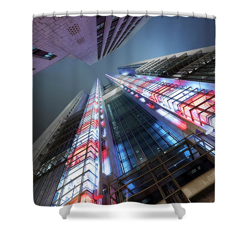 Corporate Business Shower Curtain featuring the photograph Corporate Buildings by Bertlmann