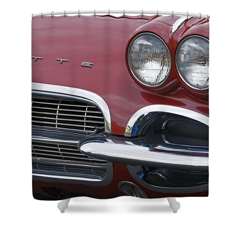 Corvette Shower Curtain featuring the photograph Corvette by Wes and Dotty Weber