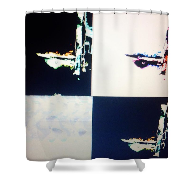 Cosmos Shower Curtain featuring the painting Cosmic Intelligence by Judith Desrosiers