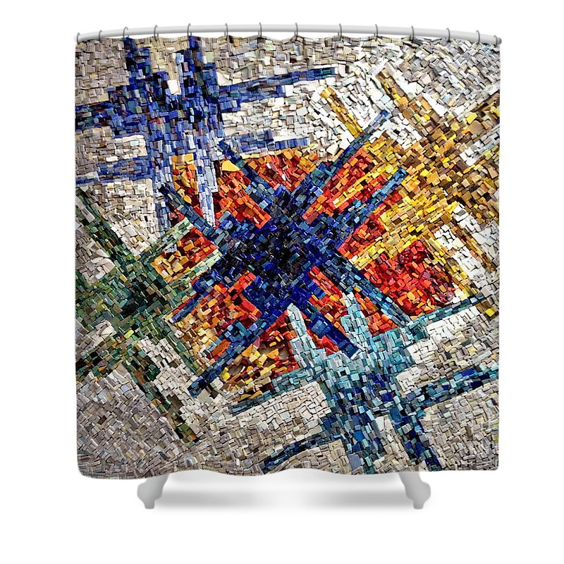 Mosaic Art Shower Curtain featuring the photograph Cosmic Mosaic by Andrea Kollo