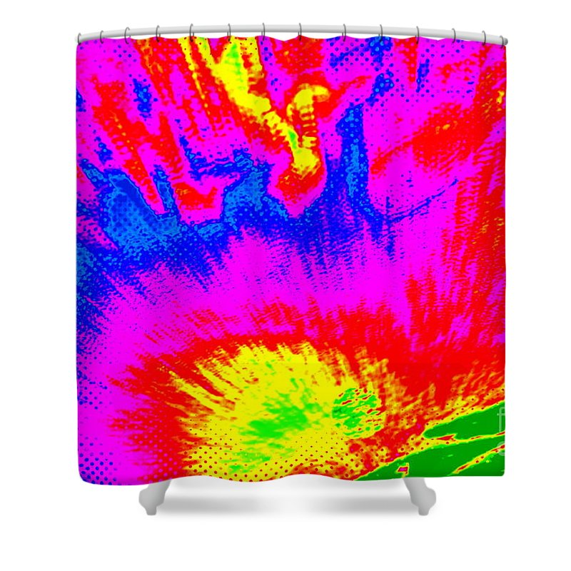 Note Card Shower Curtain featuring the photograph Cosmic Series 023 by Larry Ward