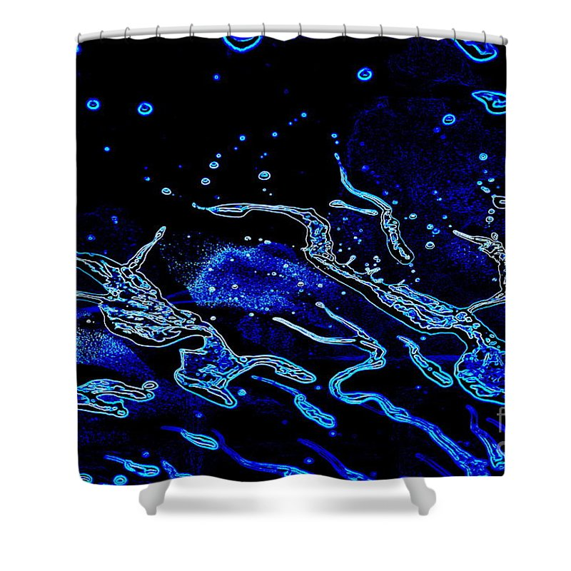 Note Card Shower Curtain featuring the photograph Cosmic Series 024 by Larry Ward