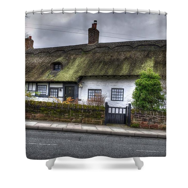 Thatched Cottage Shower Curtain featuring the photograph Cottage 3 by Spikey Mouse Photography