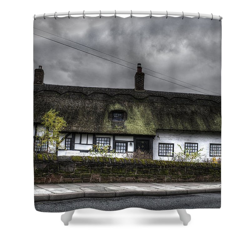 Thatched Cottage Shower Curtain featuring the photograph Cottage by Spikey Mouse Photography