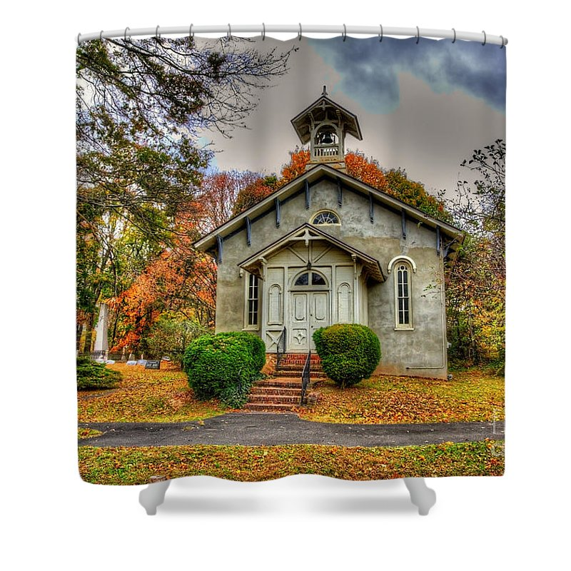 Historic Shower Curtain featuring the photograph Country Church by Traci Law
