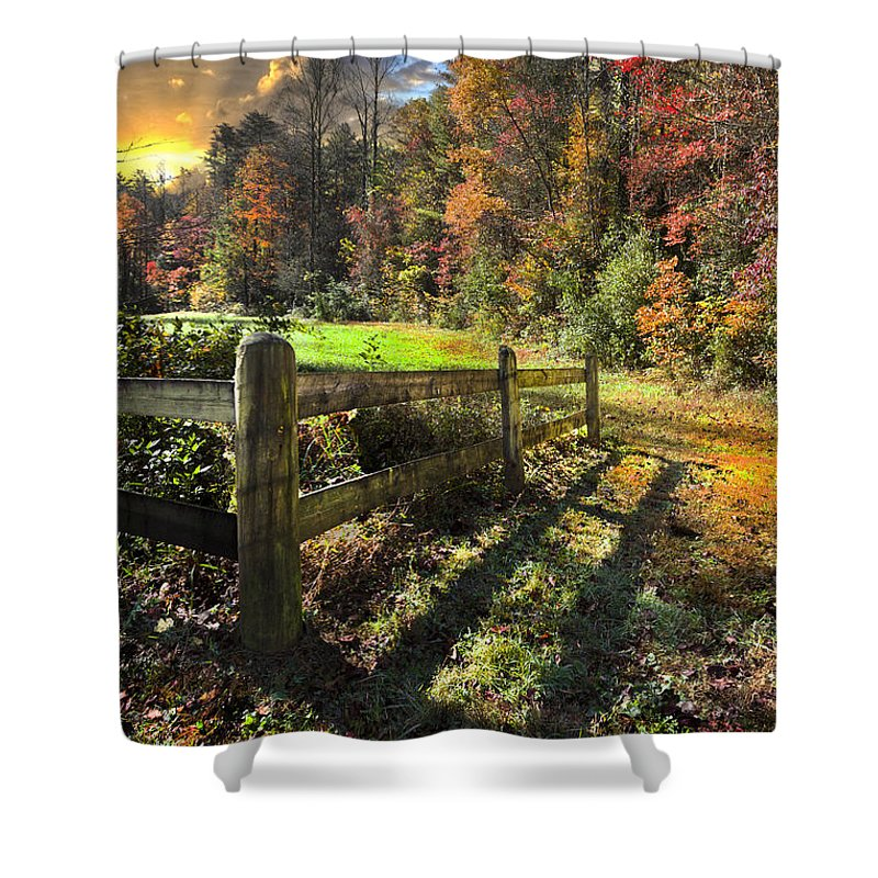 Appalachia Shower Curtain featuring the photograph Country Dawn by Debra and Dave Vanderlaan