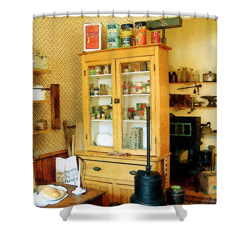 Antiques Shower Curtain featuring the painting Country Kitchen Sunshine IIi by RC deWinter