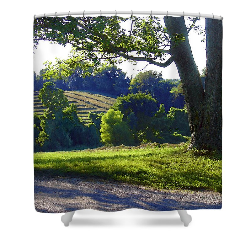 Landscape Shower Curtain featuring the photograph Country Landscape by Steve Karol