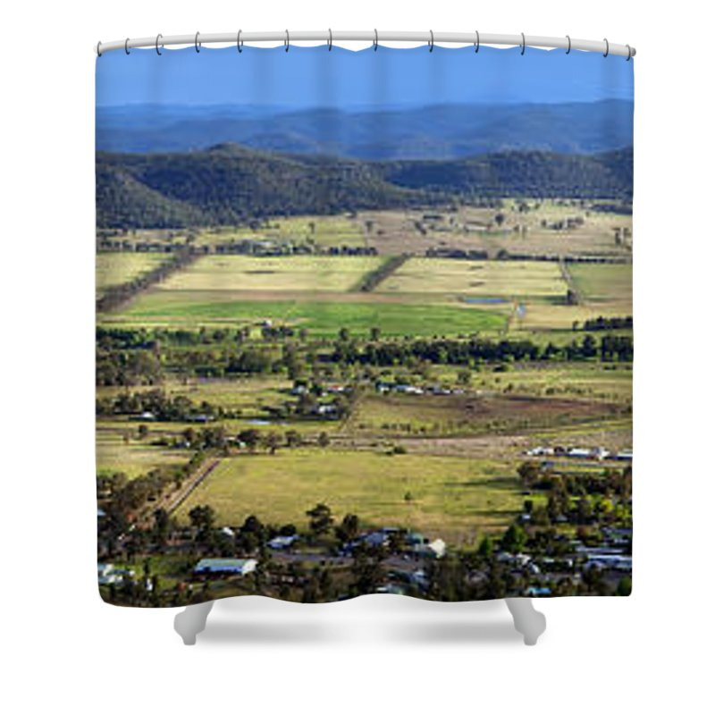Above Shower Curtain featuring the photograph Country Panorama by Tim Hester