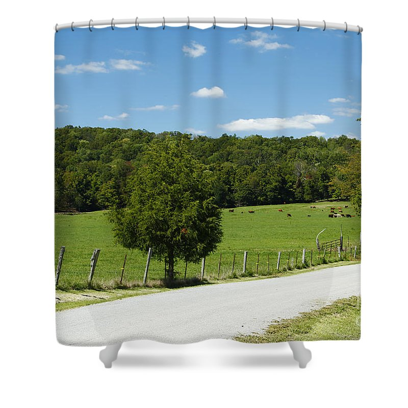 Southern Illinois Shower Curtain featuring the photograph Country Roads by Kathy McClure