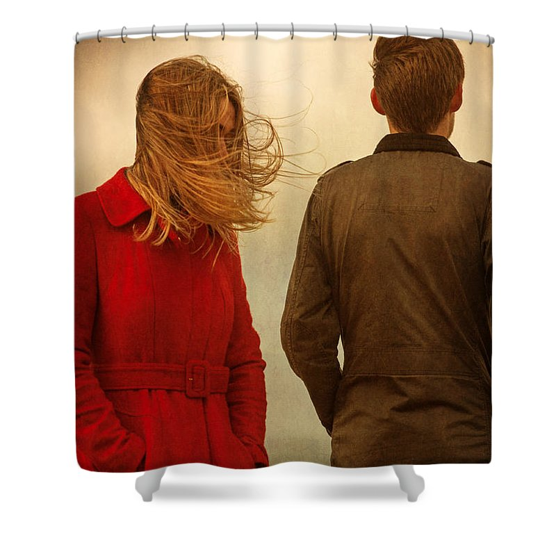 Couple Shower Curtain featuring the photograph Couple With Relationship Problems by Lee Avison