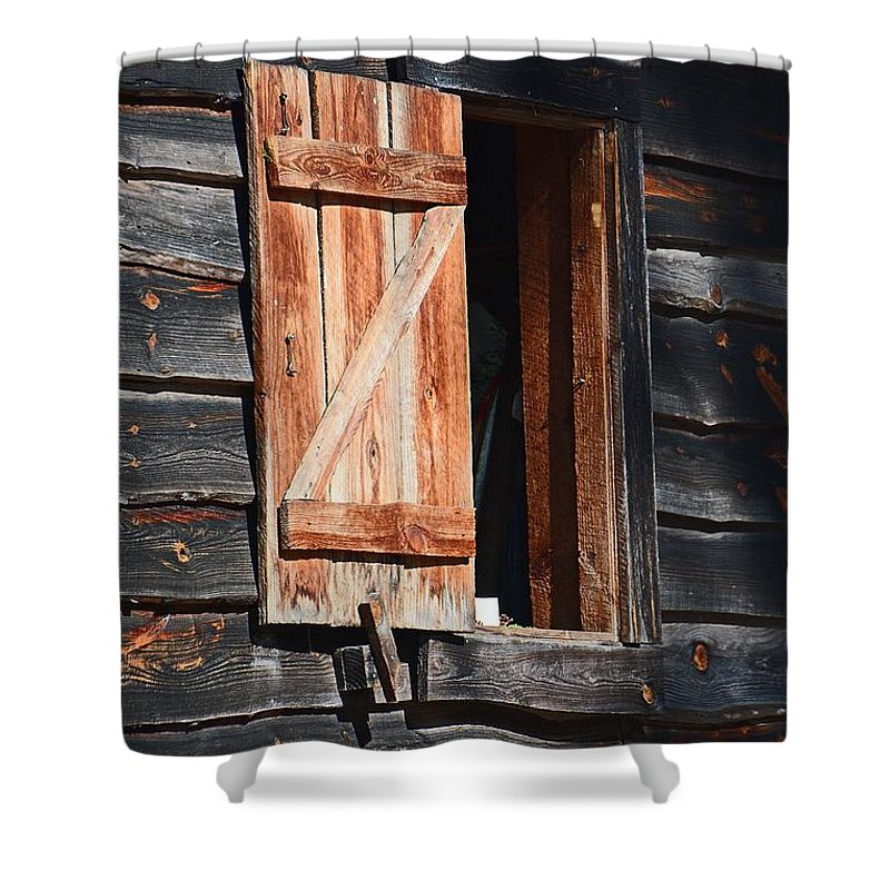 Cracker House Shower Curtain featuring the photograph Cracker House Window by Cindy Manero