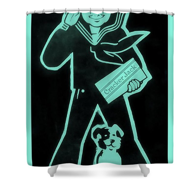 Sailor Shower Curtain featuring the photograph Crackerjack Greenishblue by Rob Hans