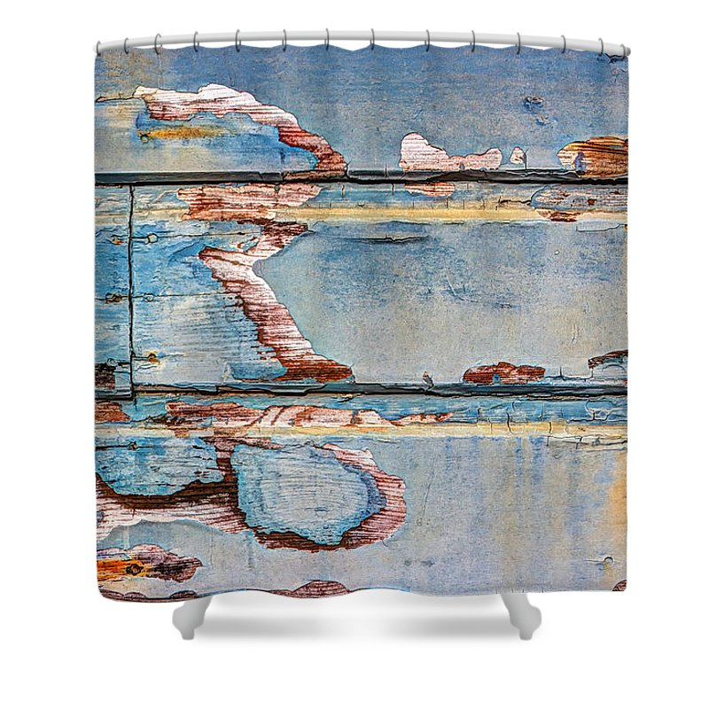 Old Shower Curtain featuring the photograph Cracking Up by Heidi Smith