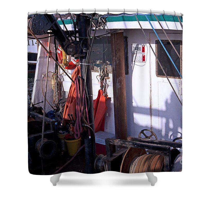 Fisherman Shower Curtain featuring the photograph Cramped Quarters by Joe Geraci