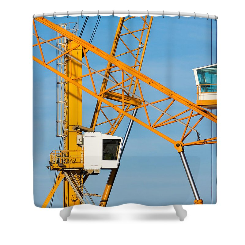 Building Shower Curtain featuring the photograph Cranes by Luciano Mortula