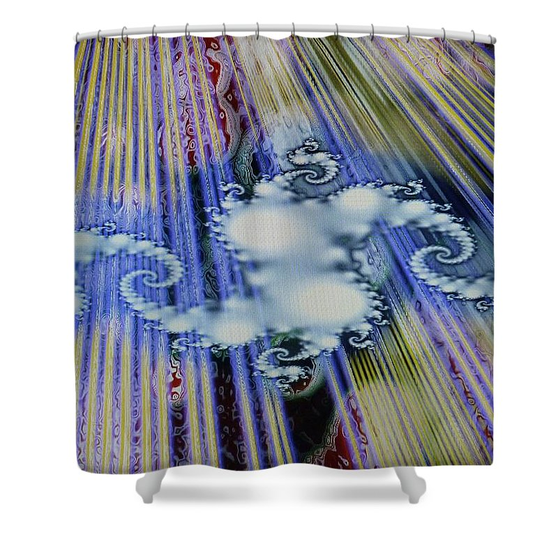 Cream Puff Shower Curtain featuring the mixed media Cream Puff by Michael Kegg