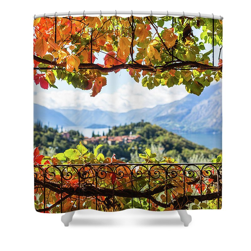 Scenics Shower Curtain featuring the photograph Creeper In Autumn by Deimagine