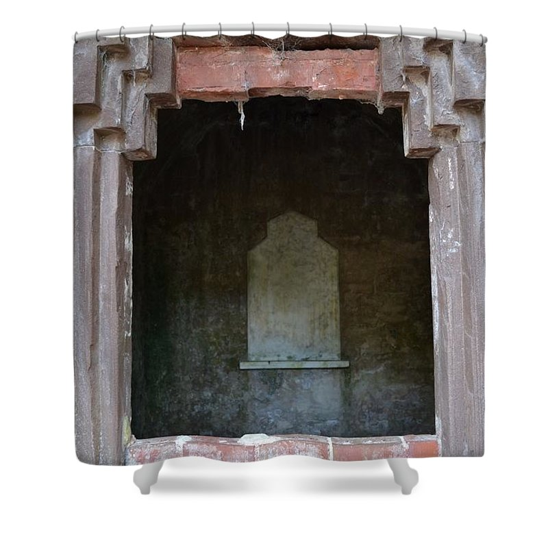 Chapel Of Ease Shower Curtain featuring the photograph Creepy Crypt by Patricia Greer