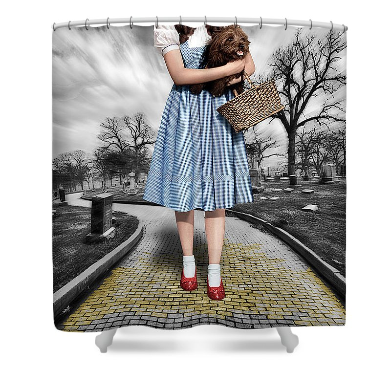 The Wizard Of Oz Shower Curtain Featuring Photograph Creepy Dorothy In