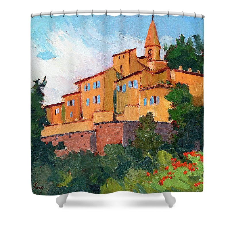 Crillon Le Brave Shower Curtain featuring the painting Crillon Le Brave by Diane McClary