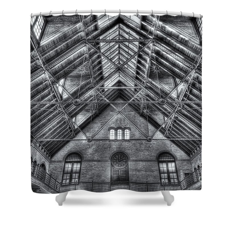 Clarence Holmes Shower Curtain featuring the photograph Crrnj Terminal Waiting Room II by Clarence Holmes