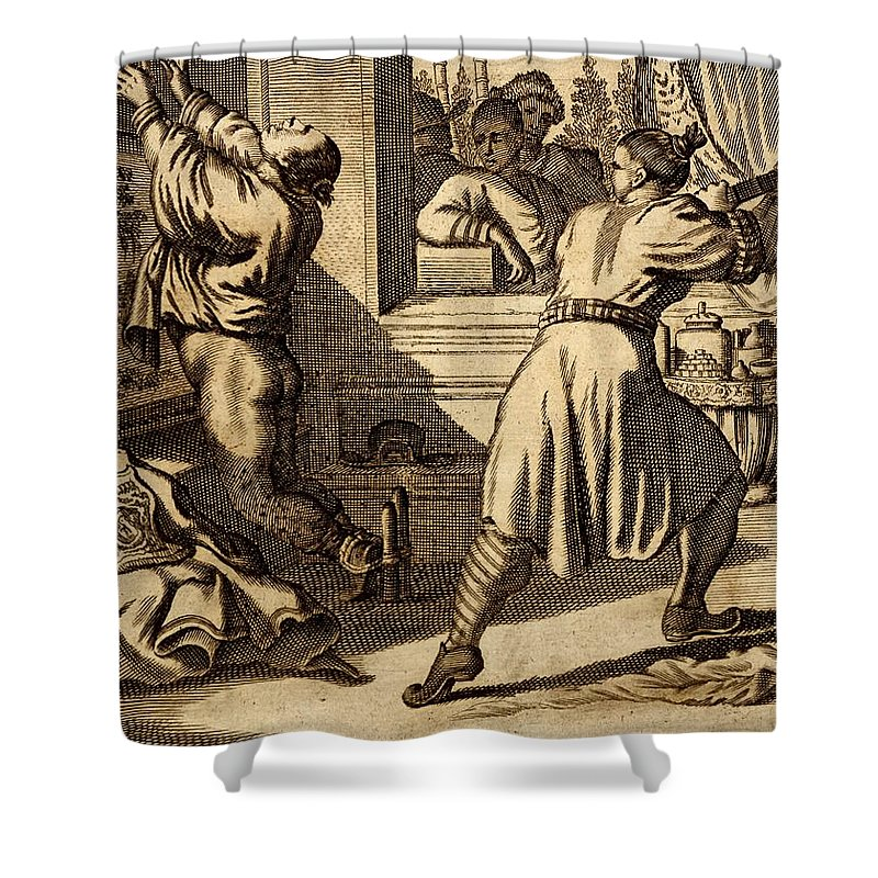 Cruel Chinese Punishment With Bound Shower Curtain for Sale by Dutch ...