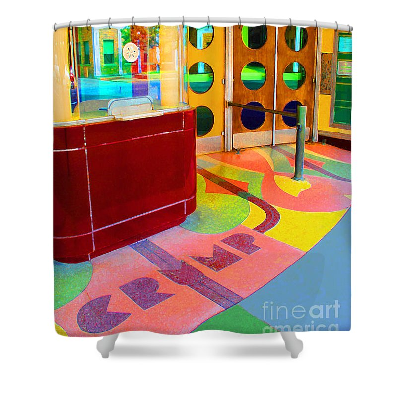 Crump Shower Curtain featuring the photograph Crump Theatre by Jost Houk