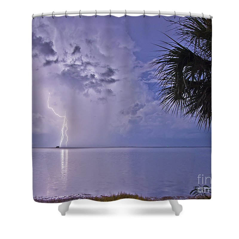 Florida Shower Curtain featuring the photograph Crystal Beach 4 by Stephen Whalen