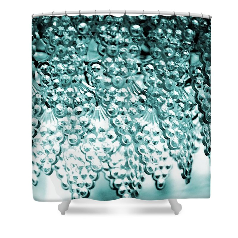 Crystal Blue Shower Curtain featuring the photograph Crystal Blue by Maria Urso