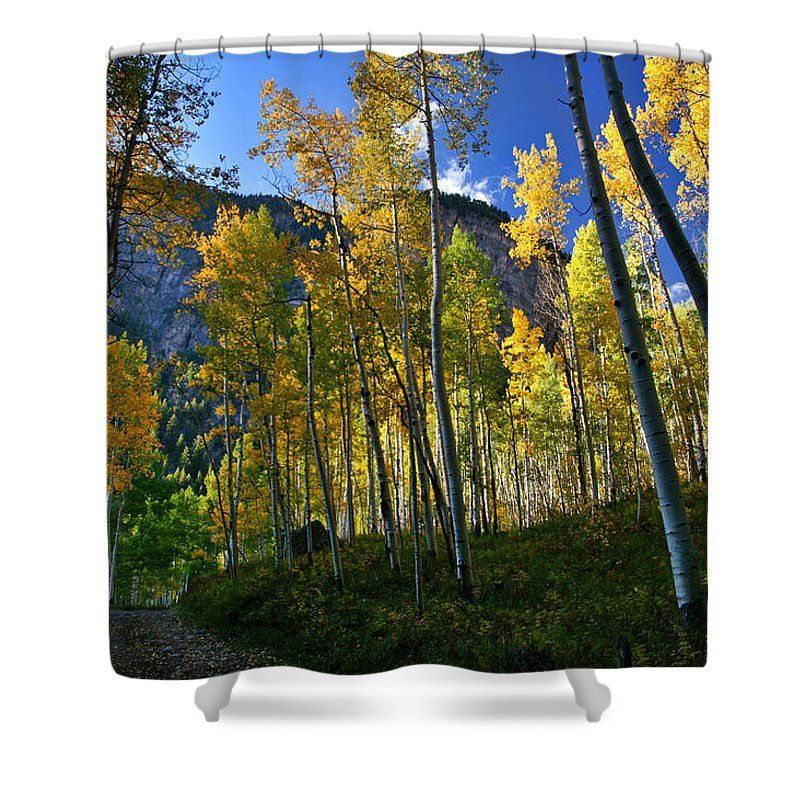 Fall Colors Shower Curtain featuring the photograph Crystal Loop by Jeremy Rhoades