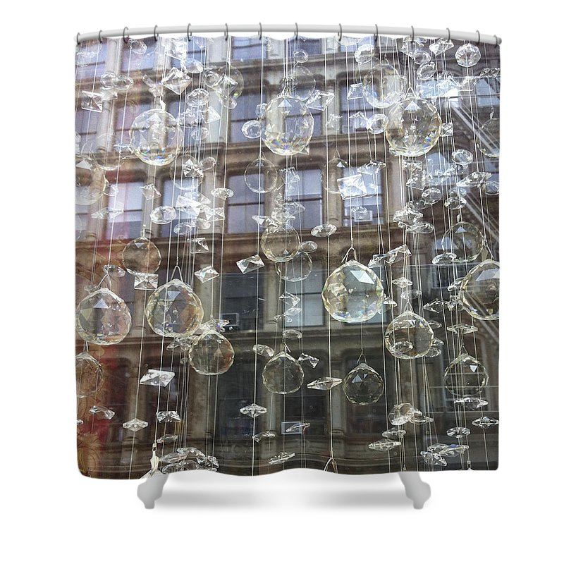 Ornaments Shower Curtain featuring the photograph Crystal Ornaments by Hope VanCleaf