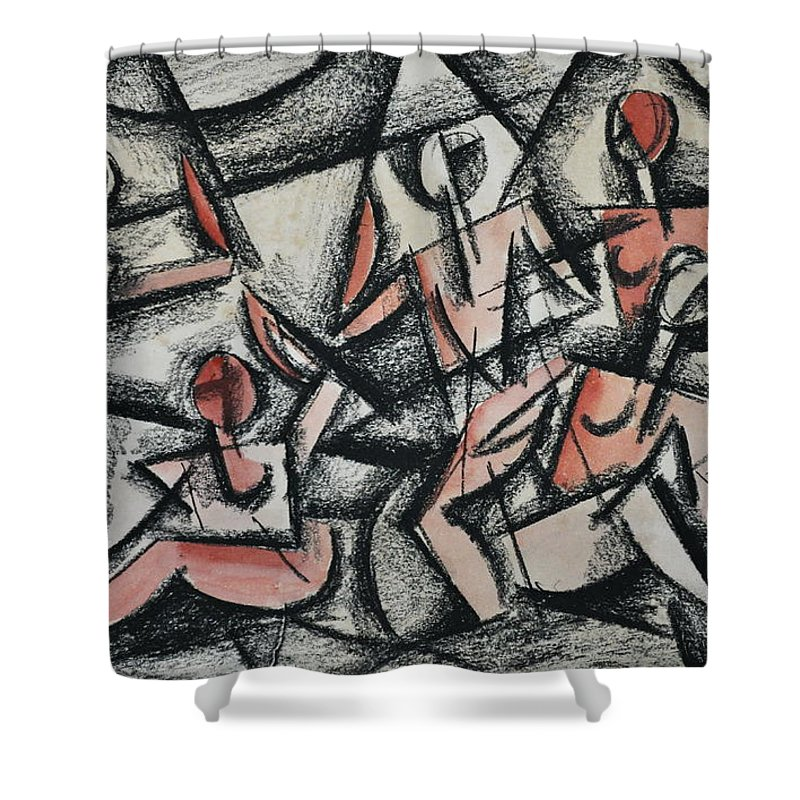 Cubism Shower Curtain featuring the photograph Cubism by Andrea Kollo
